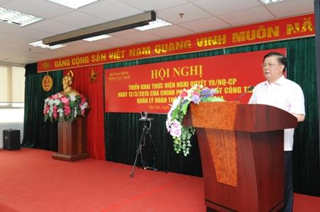 Hội nghị triển khai Nghị quyết 19/NQ-CP của Chính phủ